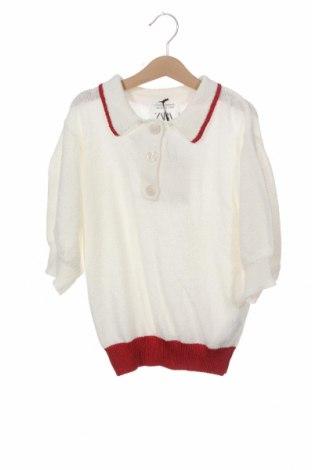 Детски пуловер Zara, Размер 9-10y/ 140-146 см, Цвят Бял, 40% памук, 27% полиамид, 24% вискоза, 7% полиестер, 2% метални нишки, Цена 8,21лв.