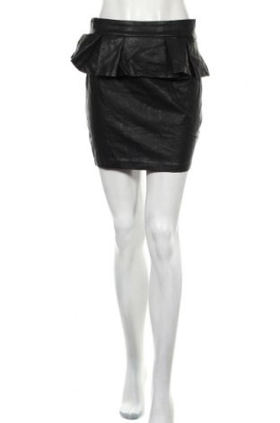 Кожена пола Bardot, Размер M, Цвят Черен, Еко кожа, Цена 6,16лв.