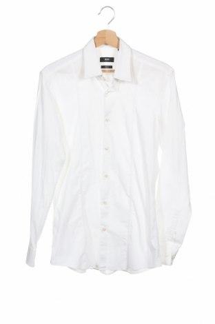 Мъжка риза Boss, Размер M, Цвят Бял, 60% памук, 40% еластан, Цена 36,85лв.