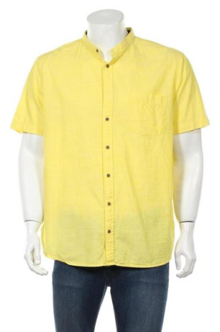 Мъжка риза Montego, Размер XL, Цвят Жълт, Памук, Цена 13,00лв.