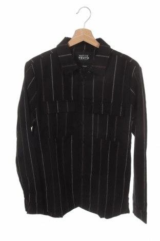 Мъжка риза Native Youth, Размер S, Цвят Черен, 65% полиестер, 35% вискоза, Цена 19,25лв.