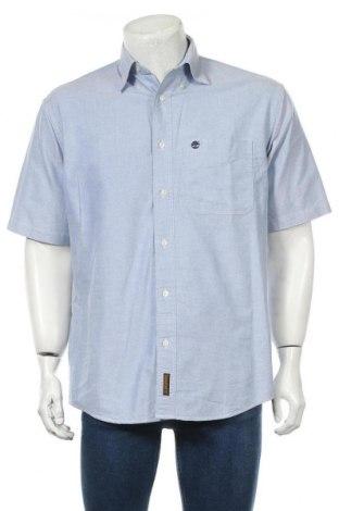 Мъжка риза Timberland, Размер S, Цвят Син, Памук, Цена 30,75лв.