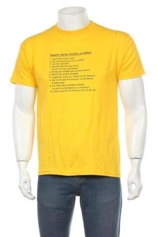 Pánské tričko  B&C Collection, Velikost S, Barva Žlutá, Bavlna, Cena  170,00Kč