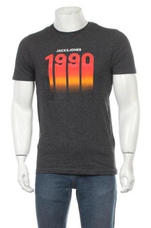 Tricou de bărbați Core By Jack & Jones, Mărime S, Culoare Gri, 68% bumbac, 32% poliester, Preț 32,24 Lei