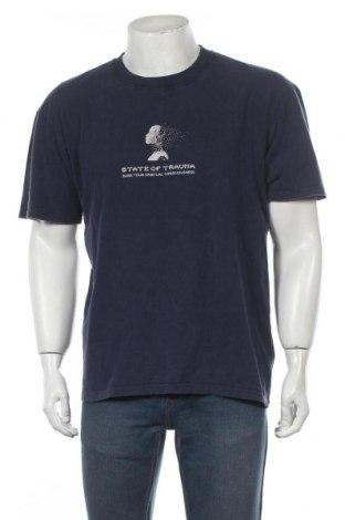 Мъжка тениска Edwin, Размер M, Цвят Син, Памук, Цена 51,75лв.