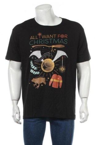 Мъжка тениска Harry Potter, Размер XXL, Цвят Черен, Памук, Цена 19,50лв.
