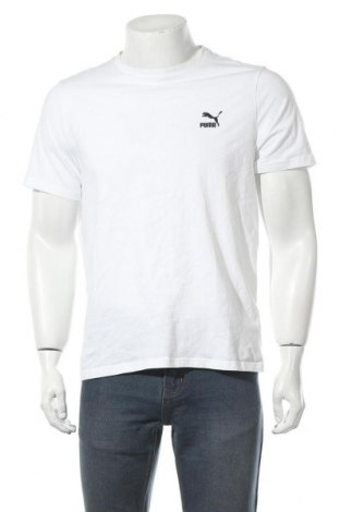 Pánské tričko  PUMA, Velikost L, Barva Bílá, 96% bavlna, 4% elastan, Cena  353,00Kč