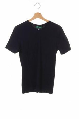 Мъжка тениска United Colors Of Benetton, Размер XS, Цвят Син, Памук, Цена 3,00лв.