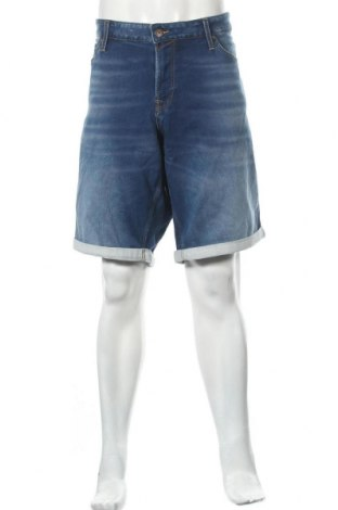 Мъжки къс панталон Jack & Jones, Размер XXL, Цвят Син, 77% памук, 22% полиестер, 1% еластан, Цена 26,25лв.