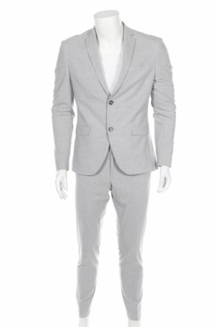 Costum de bărbați Isaac Dewhirst, Mărime M, Culoare Gri, 62% poliester, 36% viscoză, 2% elastan, Preț 309,77 Lei