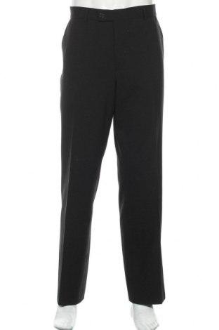 Мъжки панталон Alberto, Размер XL, Цвят Черен, 60% вълна, 38% полиестер, 2% еластан, Цена 8,33лв.