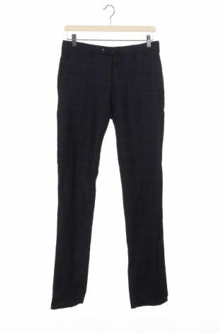 Мъжки панталон Boggi, Размер M, Цвят Син, 98% вълна, 2% еластан, Цена 16,83лв.