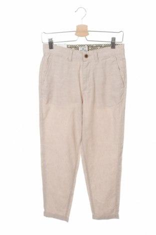 Мъжки панталон Jack & Jones, Размер XS, Цвят Бежов, 64% памук, 33% лен, 3% еластан, Цена 8,43лв.