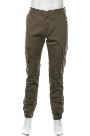 Pantaloni de bărbați Pier One, Mărime L, Culoare Verde, 98% bumbac, 2% elastan, Preț 68,42 Lei