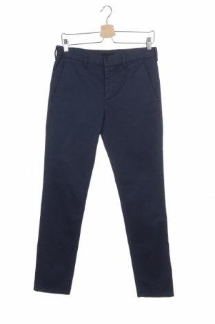 Мъжки панталон Prada, Размер M, Цвят Син, 98% памук, 2% еластан, Цена 192,00лв.