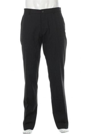 Pantaloni de bărbați Selected Homme, Mărime L, Culoare Negru, 55% poliester, 43% lână, 2% elastan, Preț 67,97 Lei