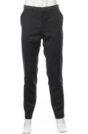 Мъжки панталон Hugo Boss, Размер L, Цвят Черен, Вълна, Цена 73,37лв.