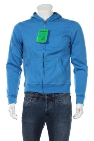 Мъжки суичър James & Nicholson, Размер S, Цвят Син, 80% памук, 20% полиестер, Цена 51,75лв.