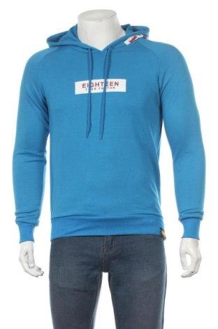 Мъжки суичър Plus Eighteen, Размер XS, Цвят Син, 65% памук, 35% полиестер, Цена 21,56лв.