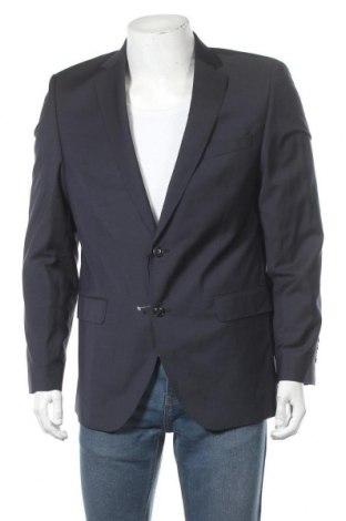 Ανδρικό σακάκι Bugatti, Μέγεθος L, Χρώμα Μπλέ, Μαλλί, Τιμή 21,78€