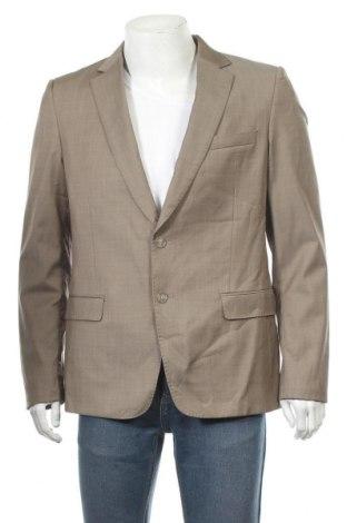 Мъжко сако Calibre, Размер L, Цвят Бежов, 99% вълна, 1% еластан, Цена 11,03лв.