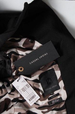 Мъжко сако Casual Friday, Размер L, Цвят Черен, 55% памук, 38% полиестер, 4% еластан, Цена 31,09лв.