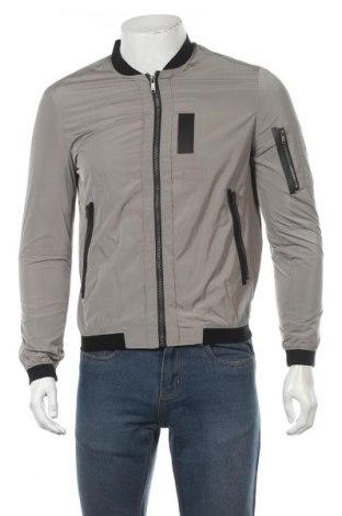 Мъжко яке Zara Man, Размер S, Цвят Сив, Полиестер, Цена 39,69лв.