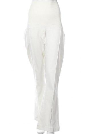 Панталон за бременни LOVE2WAIT, Размер XXL, Цвят Бял, 57% памук, 40% полиестер, 3% еластан, Цена 22,00лв.