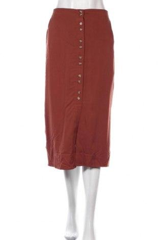 Φούστα Vero Moda, Μέγεθος XS, Χρώμα Καφέ, 70% βισκόζη, 30% lyocell, Τιμή 3,68€