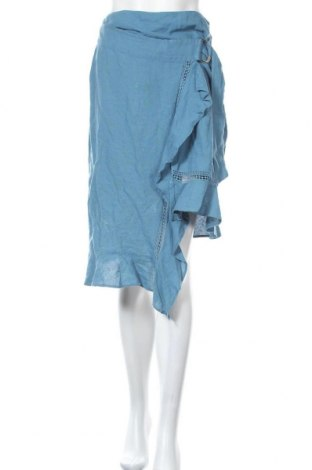 Пола Zara, Размер S, Цвят Син, 53% лен, 47% памук, Цена 10,26лв.