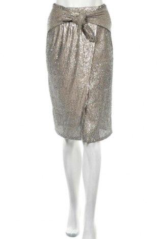 Пола Zara, Размер S, Цвят Златист, Полиестер, Цена 12,87лв.