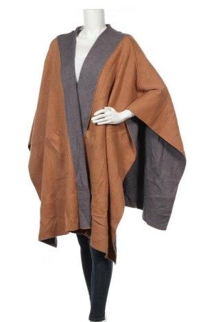 Пончо Zara Knitwear, Размер M, Цвят Кафяв, 52% вискоза, 30% полиестер, 18% полиамид, Цена 23,94лв.