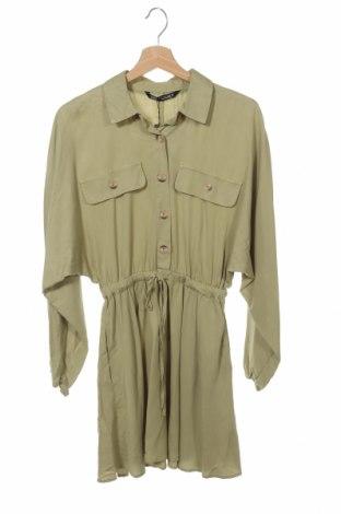Šaty  Zara, Velikost XS, Barva Zelená, Lyocell, Cena  200,00Kč