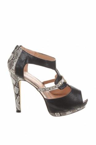 Сандали Gaudi, Размер 37, Цвят Черен, Еко кожа, Цена 25,84лв.