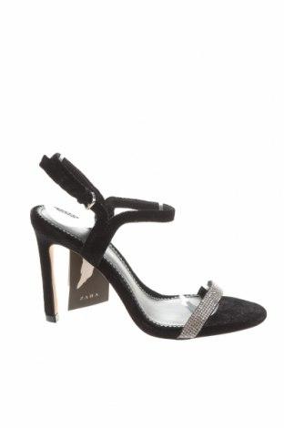 Sandály Zara, Velikost 36, Barva Černá, Textile , Cena  203,00Kč