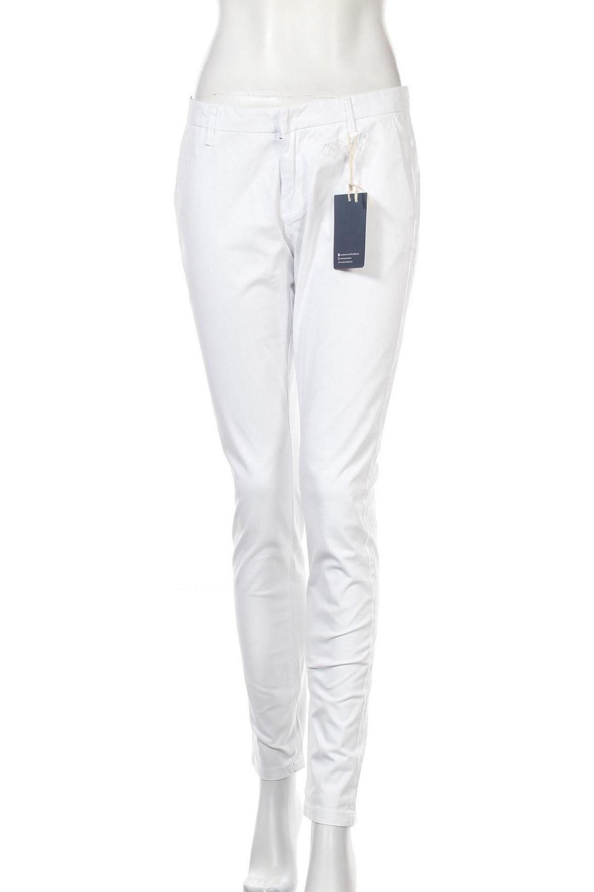Дамски панталон Dreimaster, Размер M, Цвят Бял, 97% памук, 3% еластан, Цена 96,75лв.