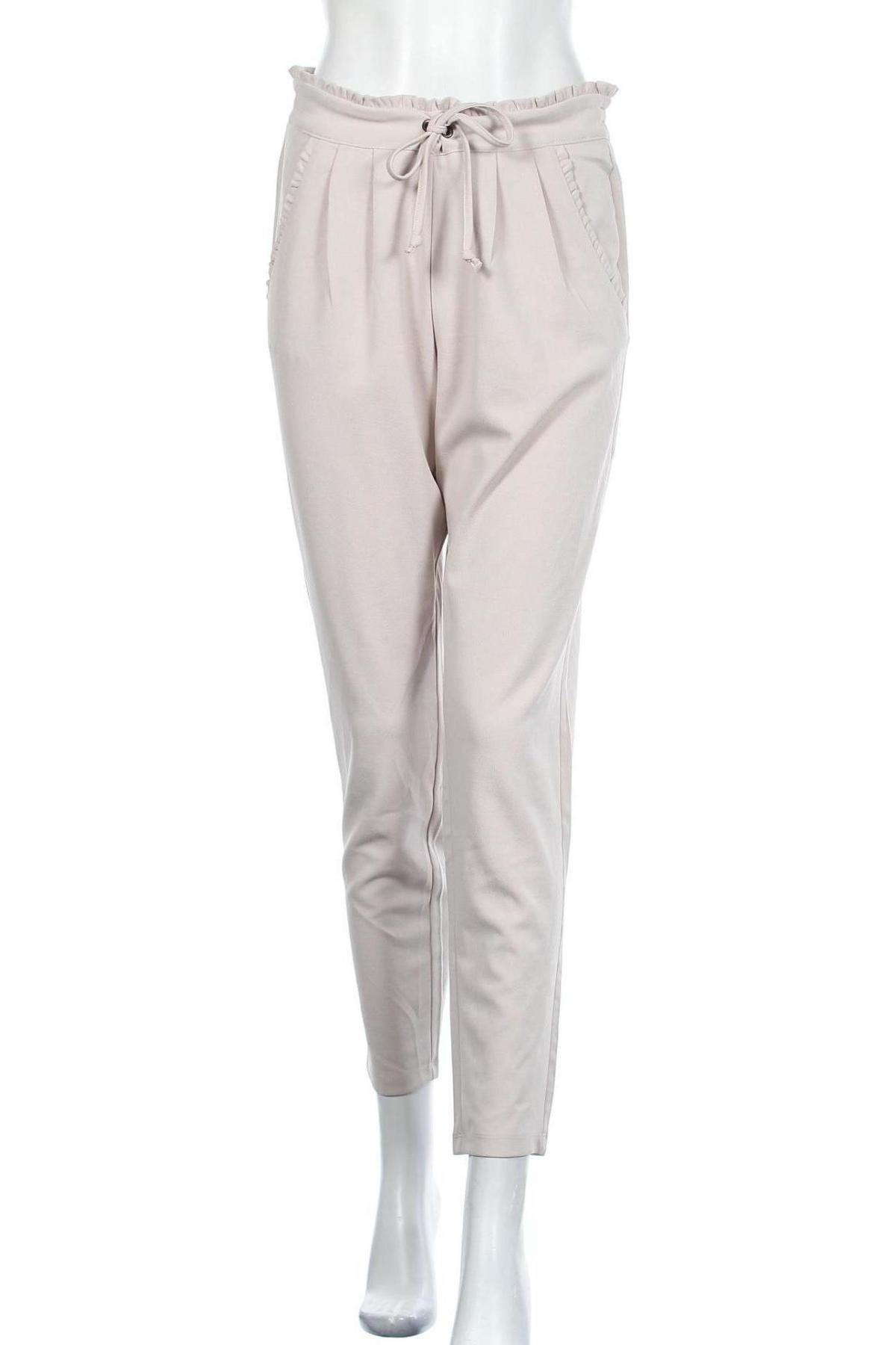 Дамски панталон Jacqueline De Yong, Размер M, Цвят Бежов, 95% полиестер, 5% еластан, Цена 12,34лв.