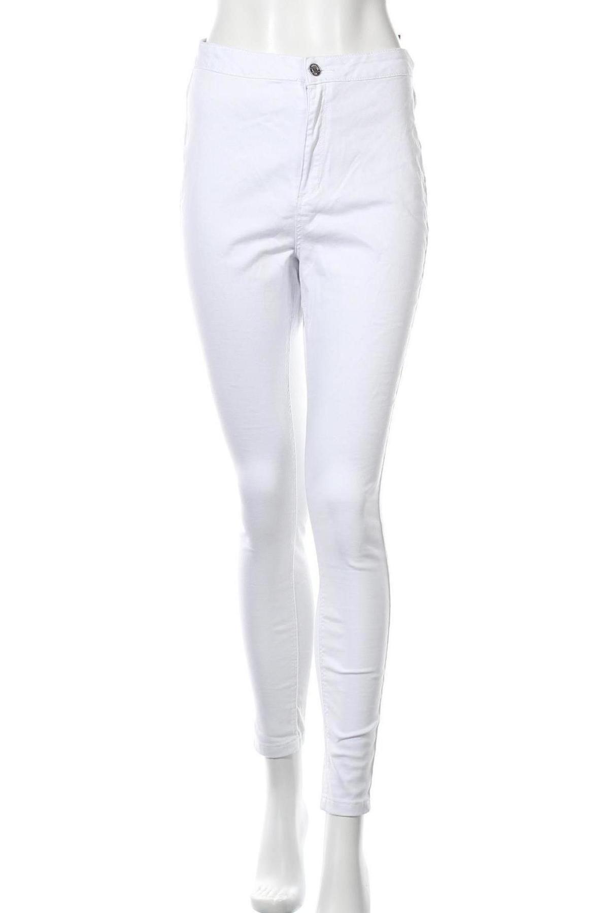 Дамски панталон Missguided, Размер L, Цвят Бял, 98% памук, 2% еластан, Цена 42,00лв.