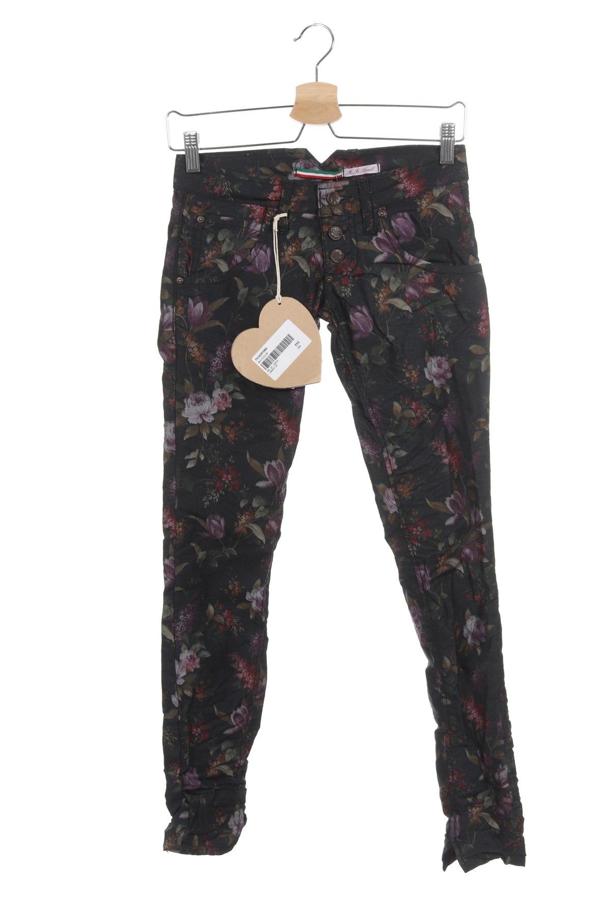 Дамски панталон Please, Размер XXS, Цвят Многоцветен, 70% памук, 27% полиестер, 3% еластан, Цена 24,34лв.