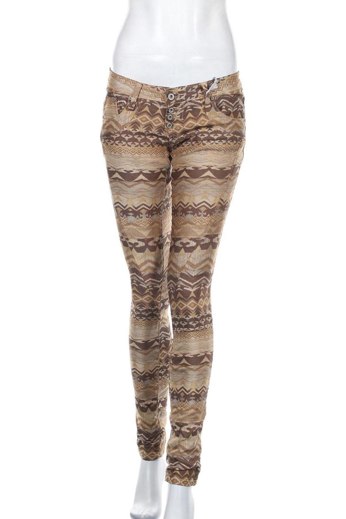 Дамски панталон Please, Размер S, Цвят Многоцветен, 77% памук, 21% полиестер, 2% еластан, Цена 14,90лв.