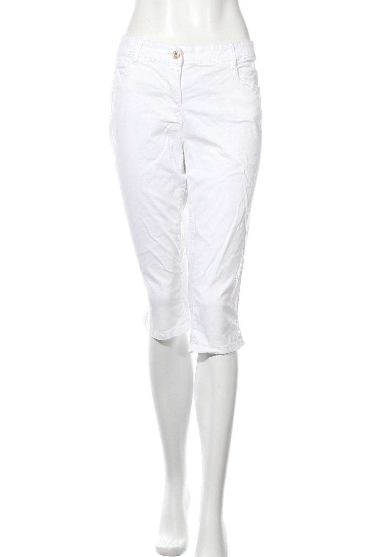 Дамски панталон Tom Tailor, Размер L, Цвят Бял, 97% памук, 3% еластан, Цена 11,88лв.