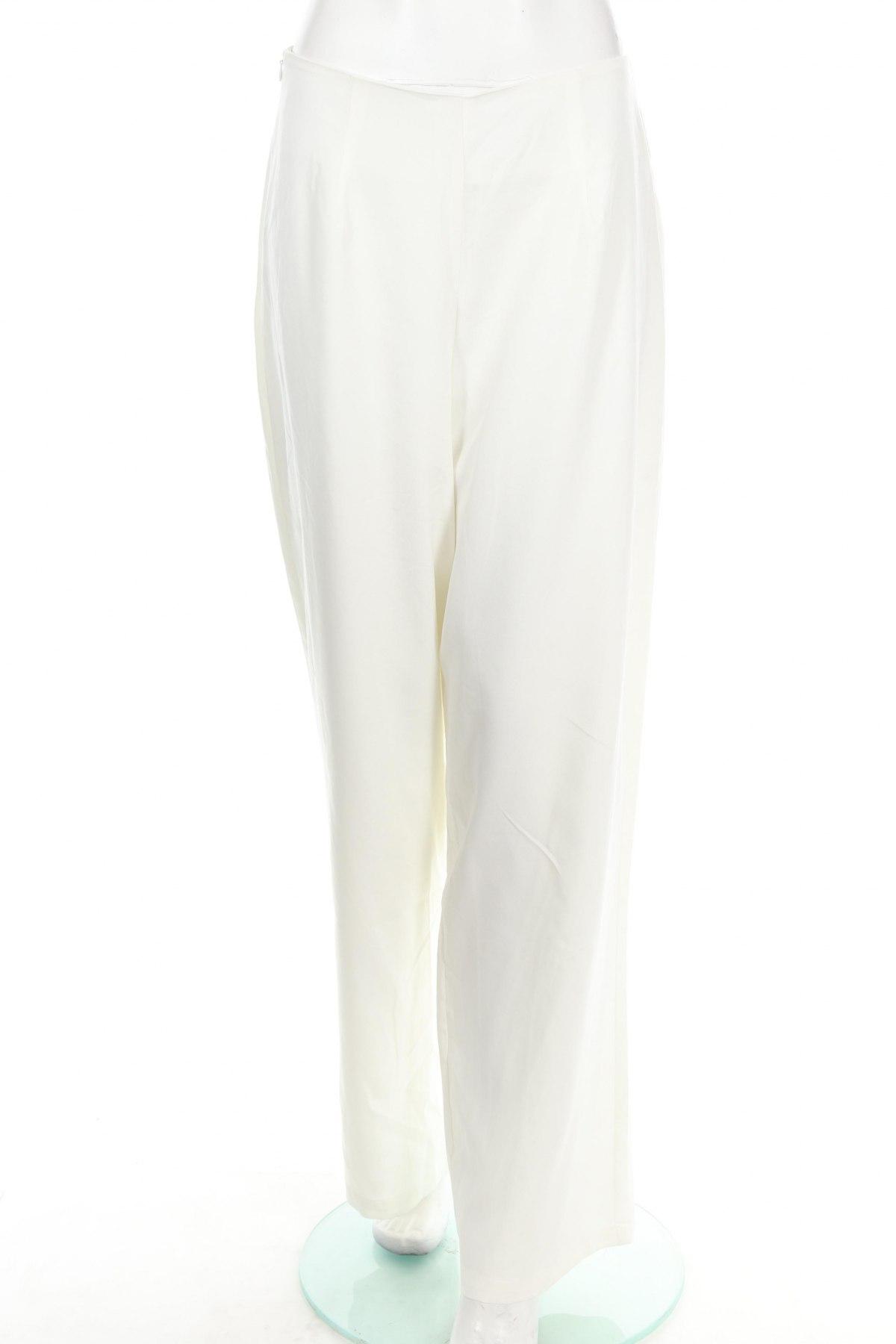 Дамски панталон Usha, Размер L, Цвят Бял, 92% полиестер, 8% еластан, Цена 13,85лв.