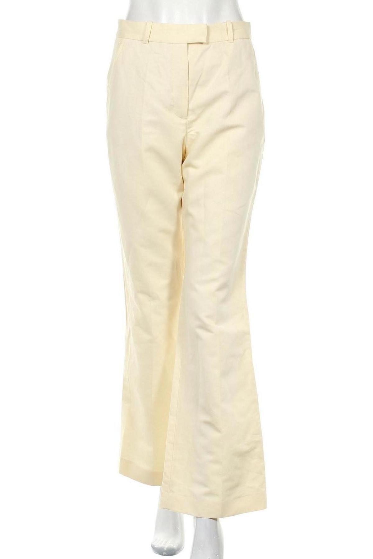 Дамски панталон Zara, Размер S, Цвят Екрю, 53% памук, 47% лен, Цена 14,72лв.