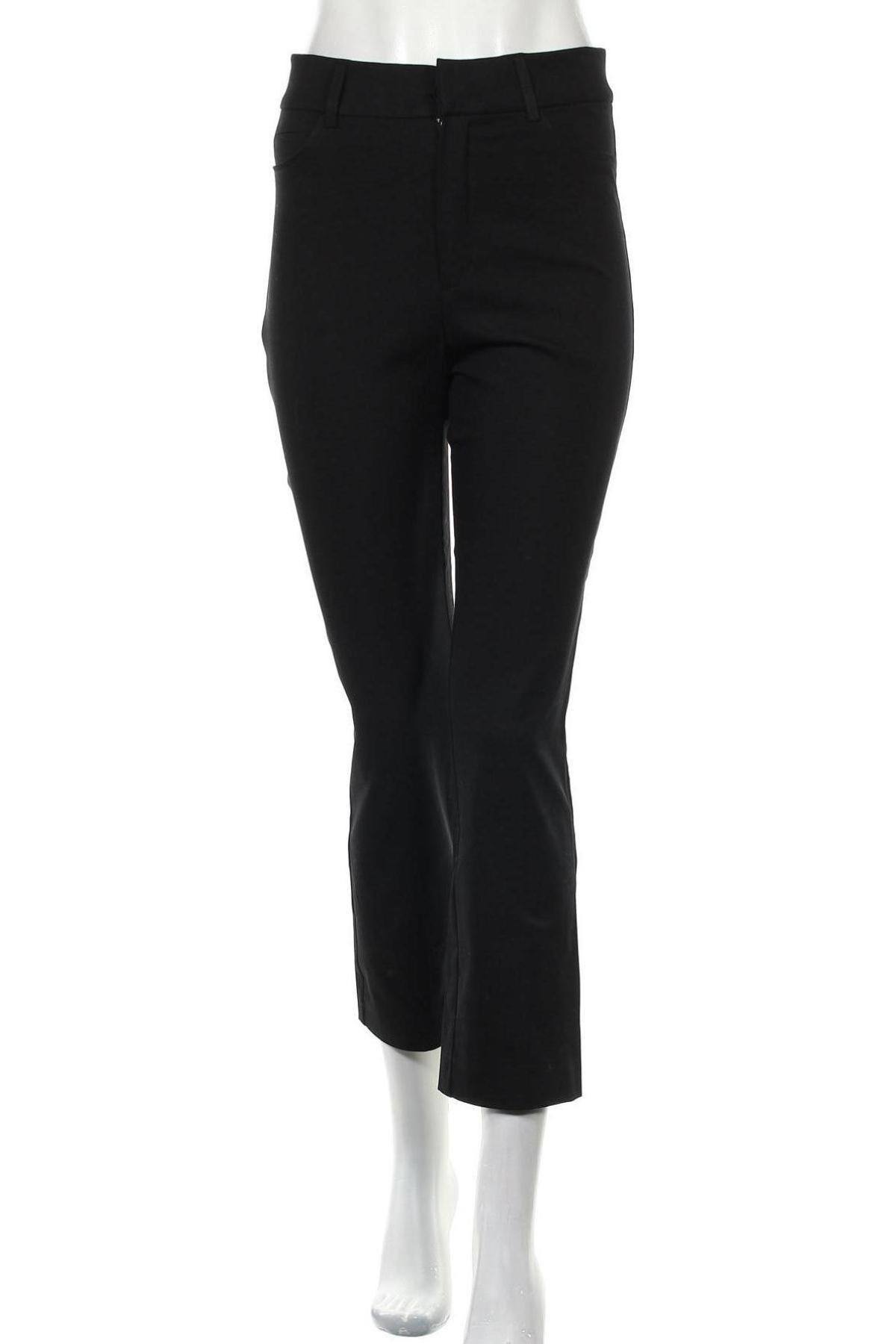 Дамски панталон Zara, Размер M, Цвят Черен, 95% памук, 5% еластан, Цена 51,75лв.