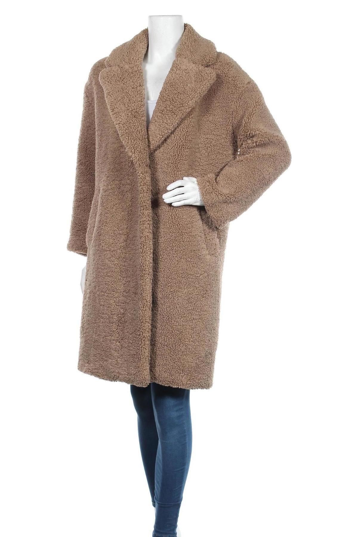 Dámský kabát  Zara, Velikost S, Barva Béžová, Polyester, Cena  1870,00Kč