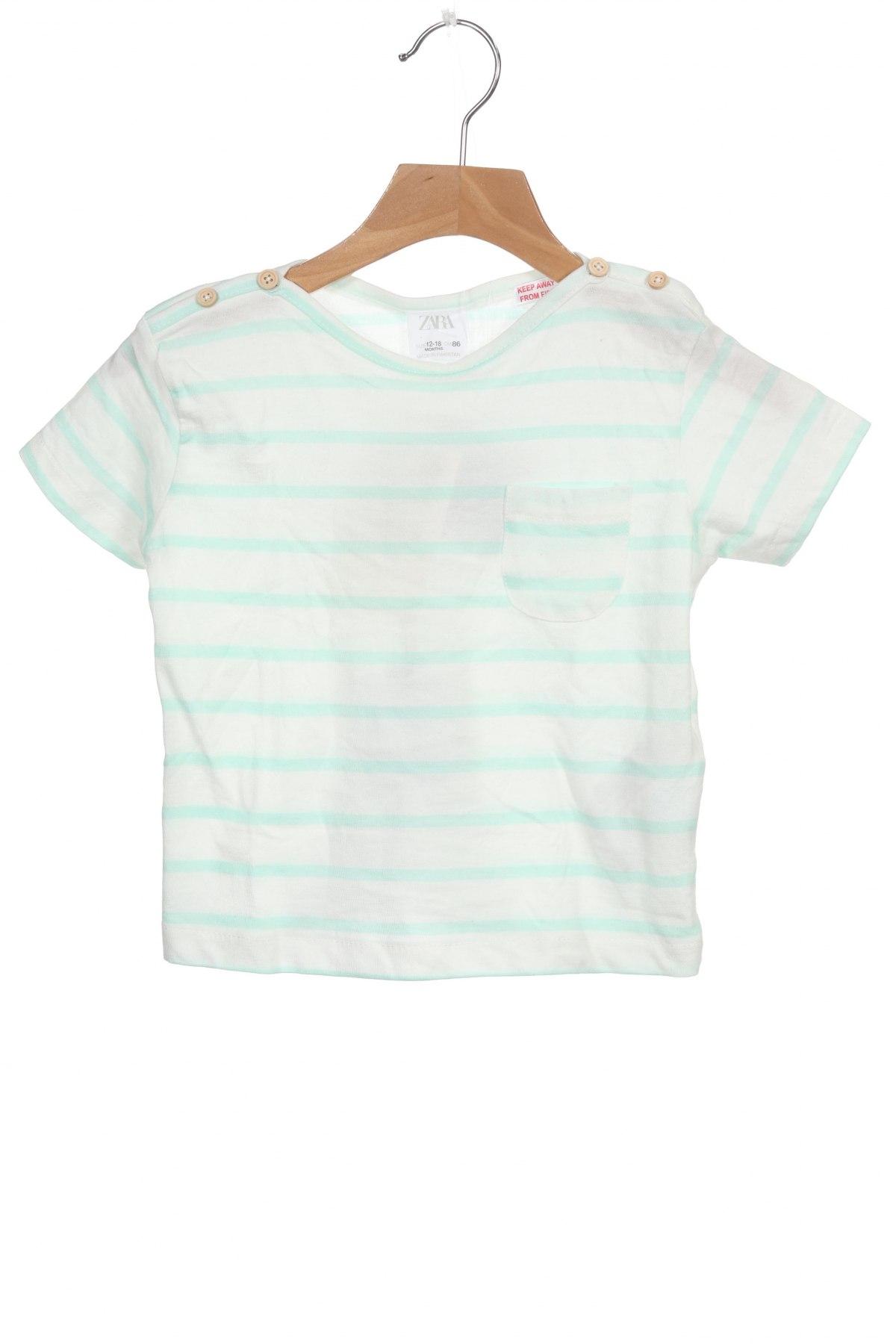 Παιδική μπλούζα Zara, Μέγεθος 12-18m/ 80-86 εκ., Χρώμα Λευκό, Βαμβάκι, Τιμή 12,37€