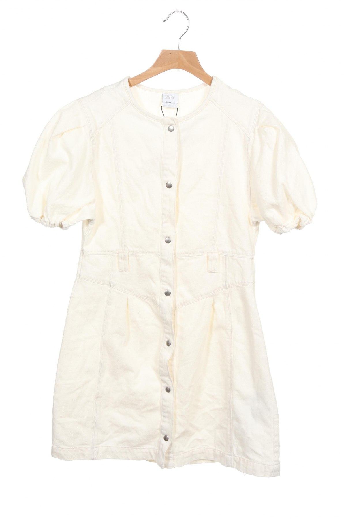 Παιδικό φόρεμα Zara, Μέγεθος 10-11y/ 146-152 εκ., Χρώμα Εκρού, Βαμβάκι, Τιμή 12,37€