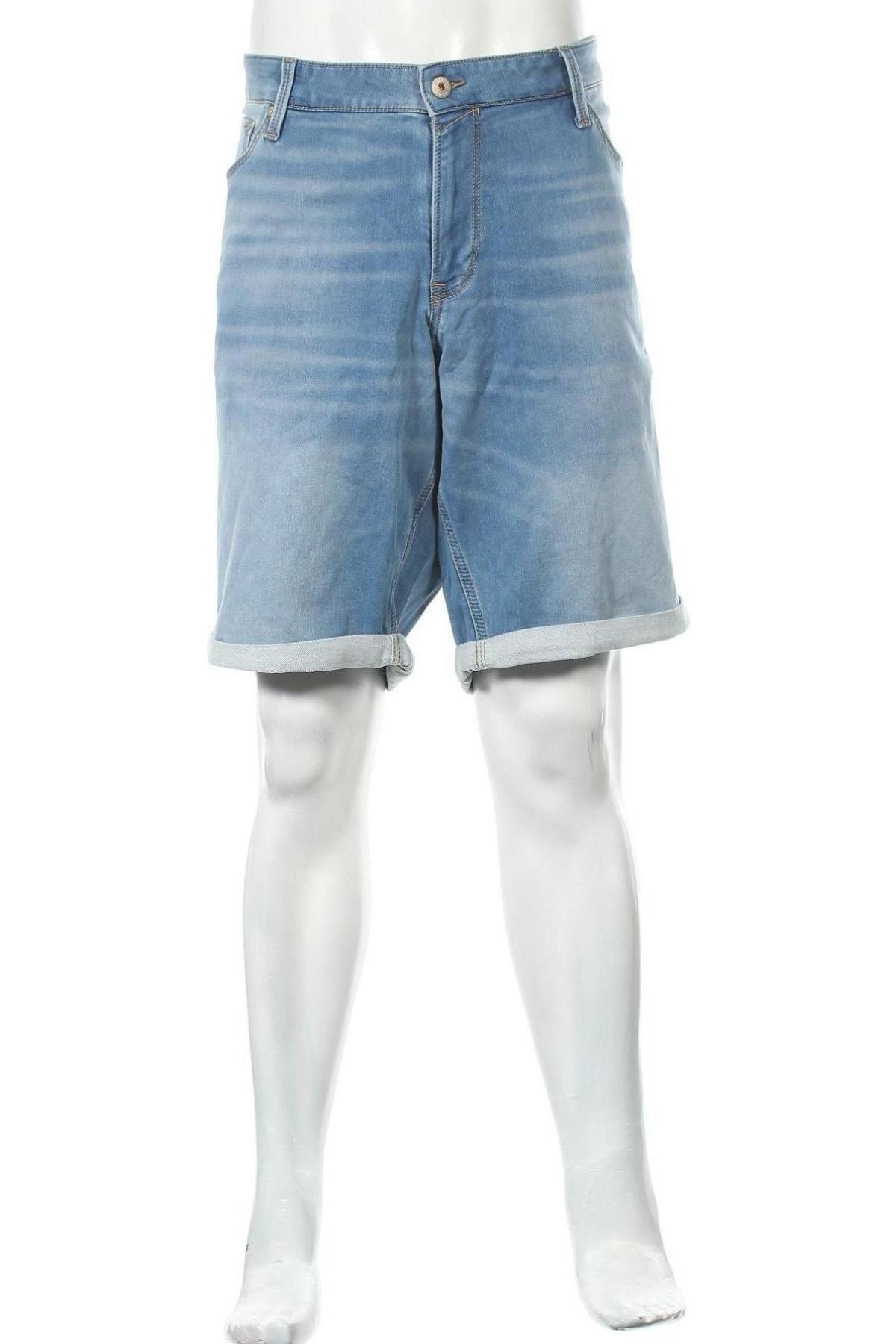 Мъжки къс панталон Jack & Jones, Размер 3XL, Цвят Син, 77% памук, 22% полиестер, 1% еластан, Цена 28,98лв.