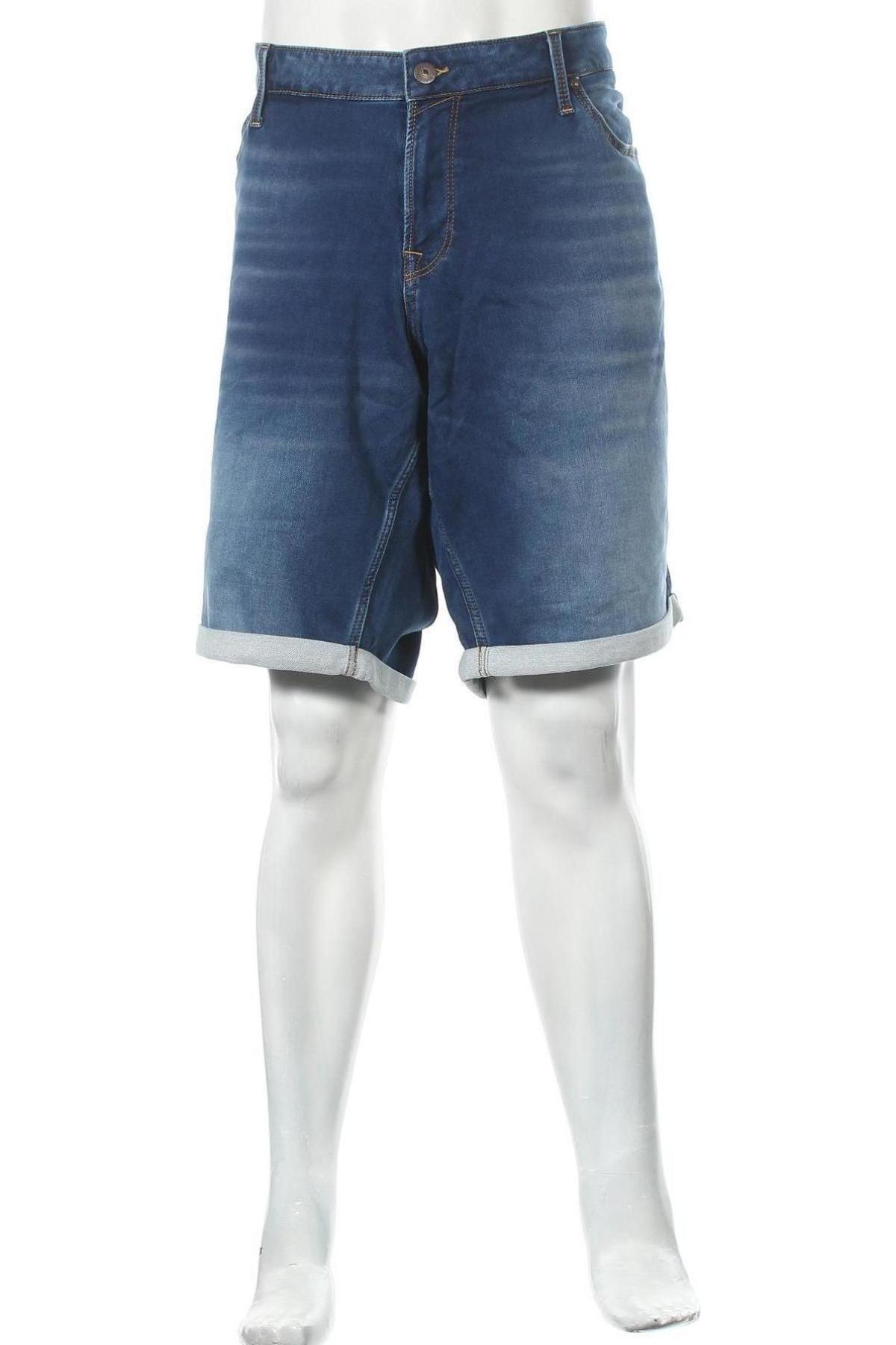 Мъжки къс панталон Jack & Jones, Размер 4XL, Цвят Син, 77% памук, 22% полиестер, 1% еластан, Цена 26,25лв.