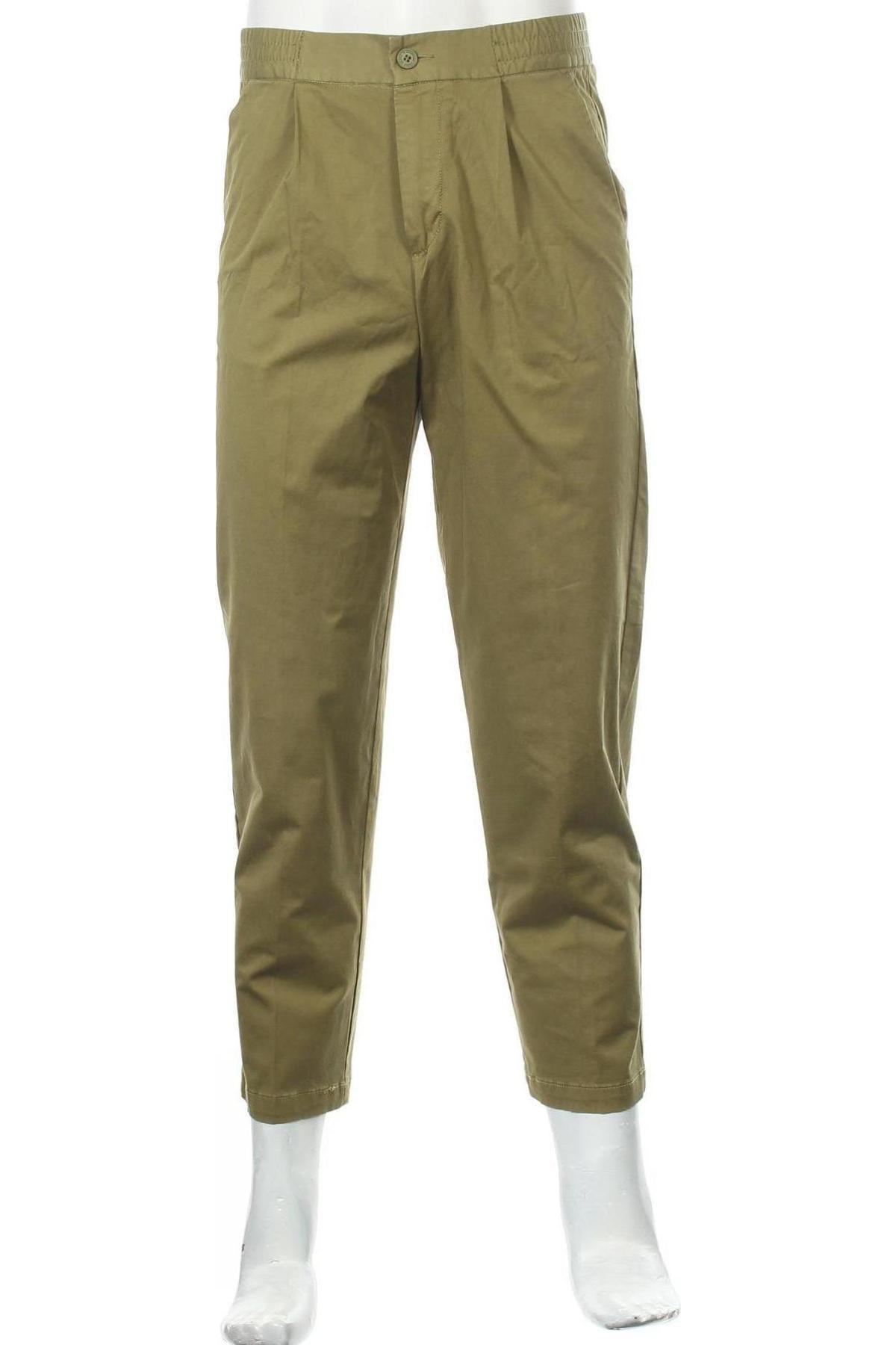 Мъжки панталон United Colors Of Benetton, Размер S, Цвят Зелен, 98% памук, 2% еластан, Цена 22,77лв.
